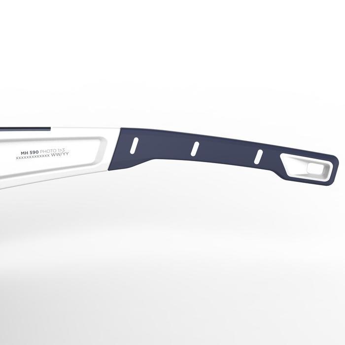 成人款光變色健行太陽眼鏡(濾鏡分類2 =>濾鏡分類4)MH590-白色