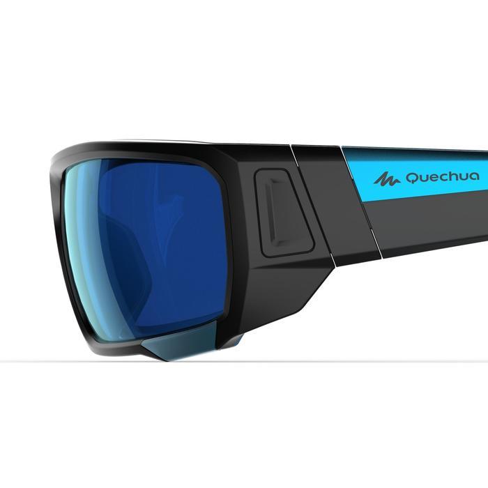 Lunettes de randonnée adulte MH 910 noires/bleues verres interchangeables cat4+2 - 1253628