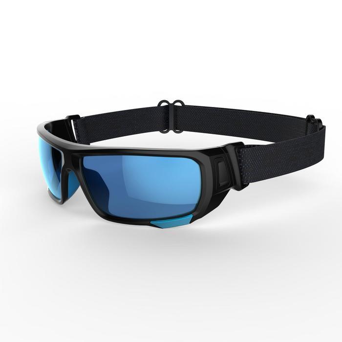 Lunettes de randonnée adulte MH 910 noires/bleues verres interchangeables cat4+2 - 1253630