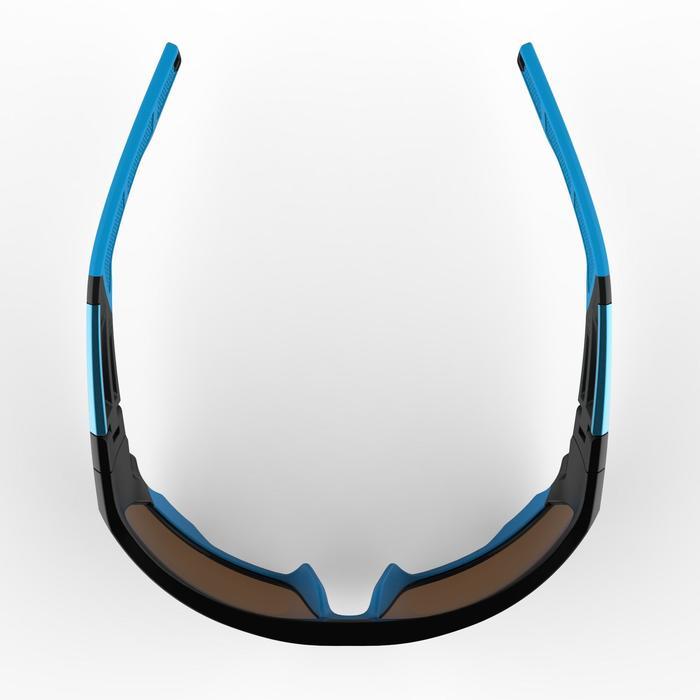 Lunettes de randonnée adulte MH 910 noires/bleues verres interchangeables cat4+2 - 1253632