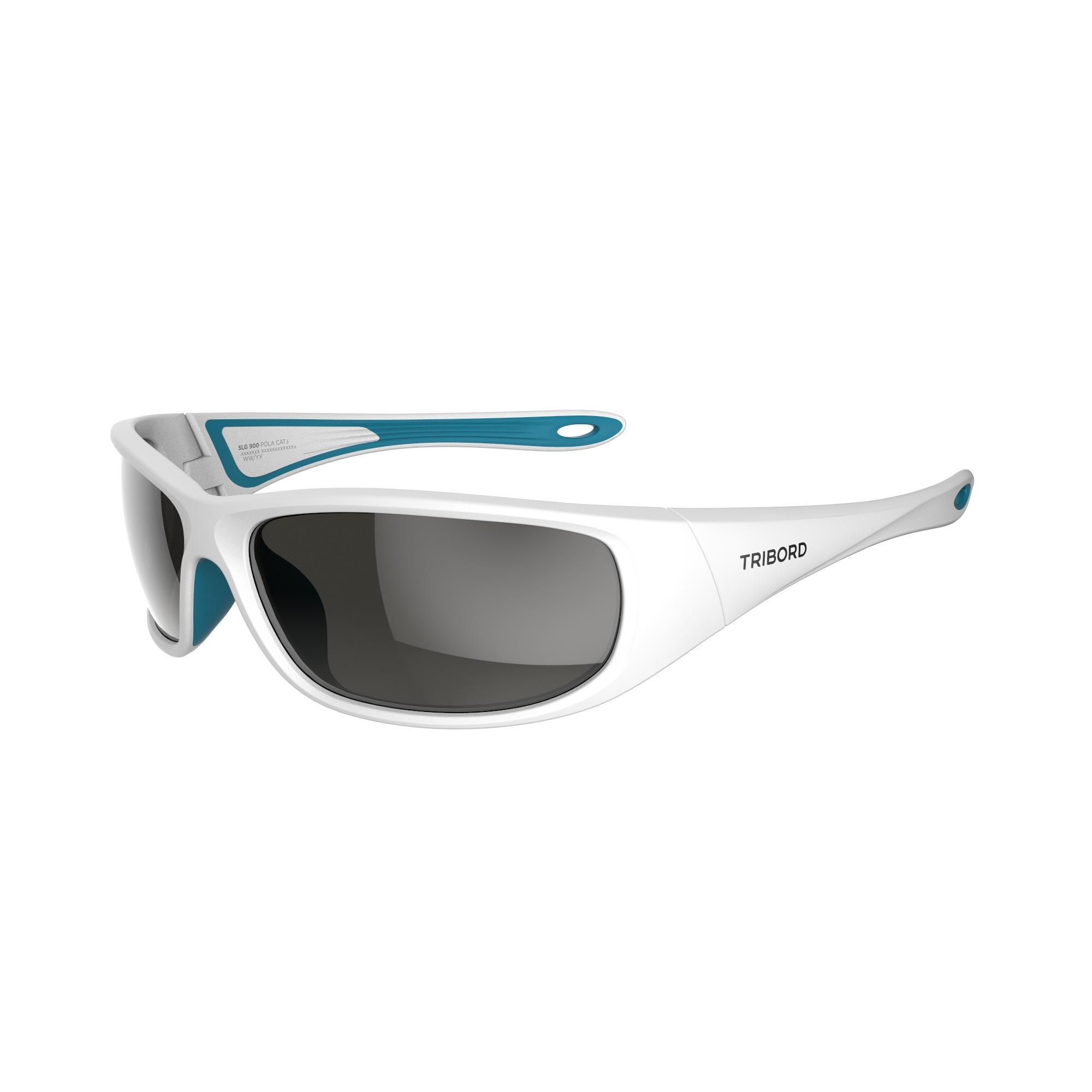 Tribord Drijvende zonnebril 900 voor zeilen, volwassenen, polariserend wit categorie 3