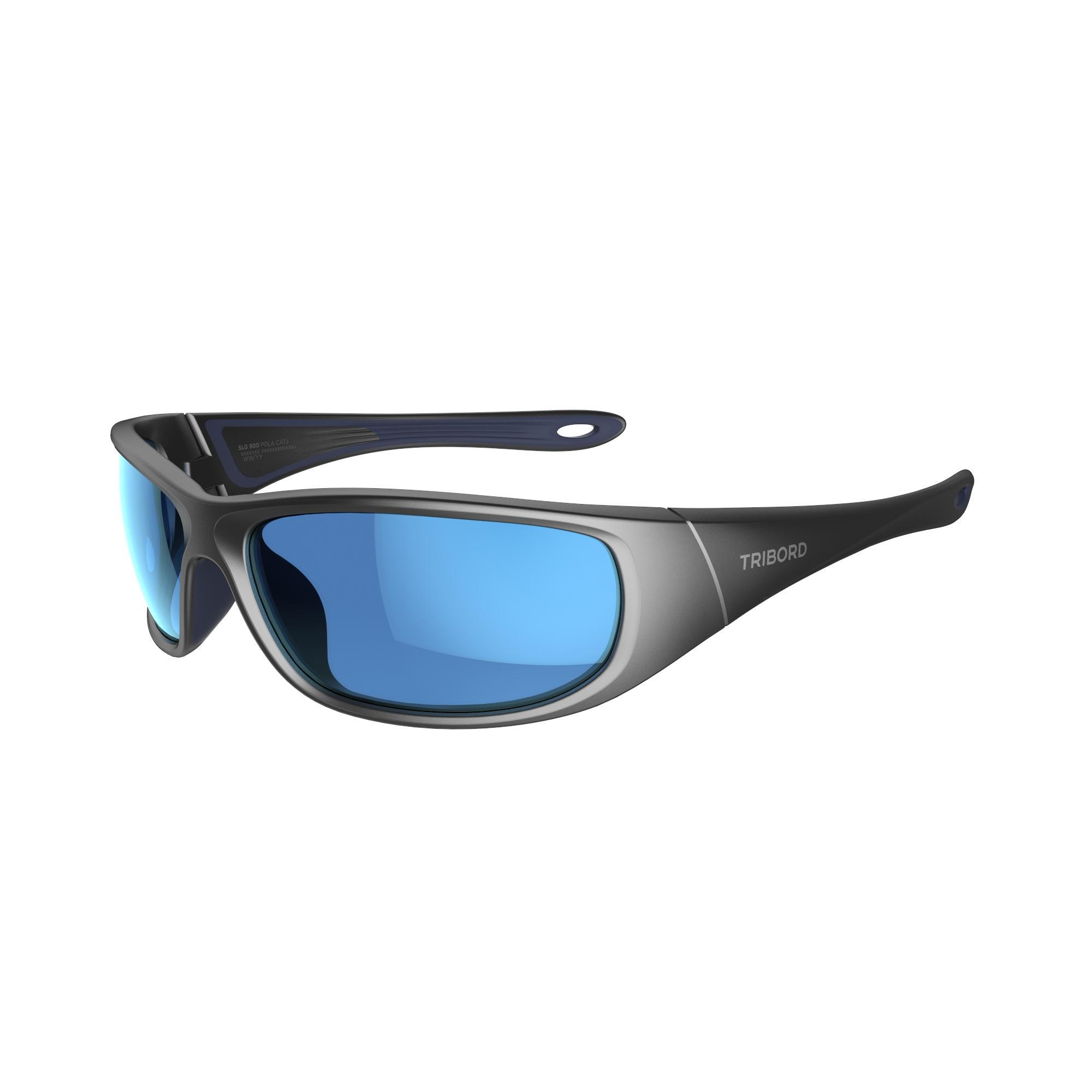 Tribord Watersportbril 900 voor volwassenen, grijs, drijvend, polariserend categorie 3