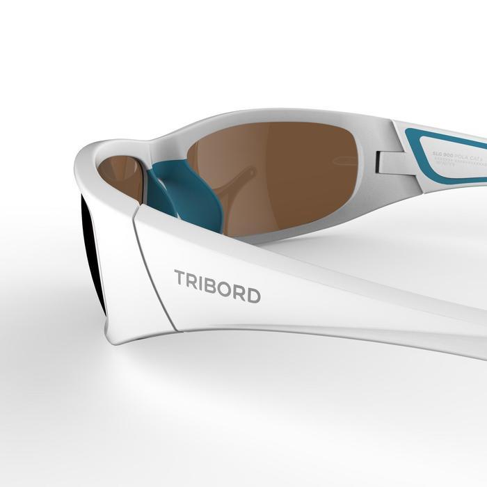 Sonnenbrille Segeln 900 polarisierend schwimmfähig Erwachsene Kategorie 3 weiß