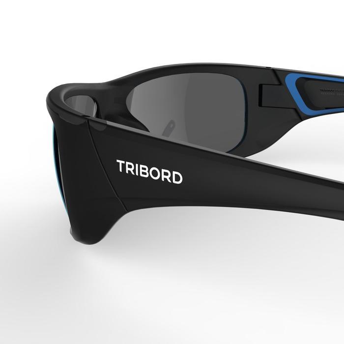Sonnenbrille 500 Segeln polarisierend Kategorie 3 Erwachsene schwarz/blau