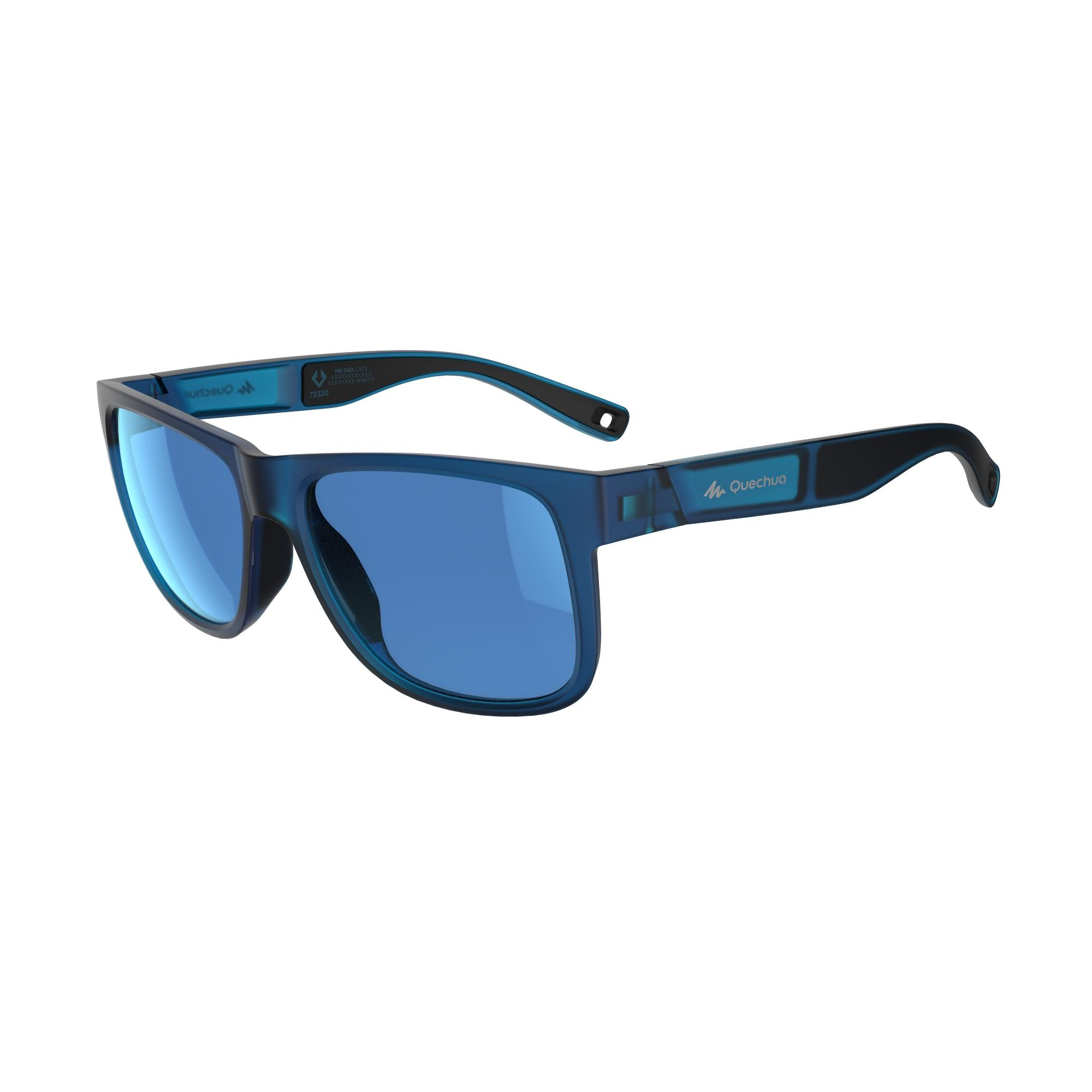 Lentes de sol senderismo adulto MH 540 azul. Categoría 3