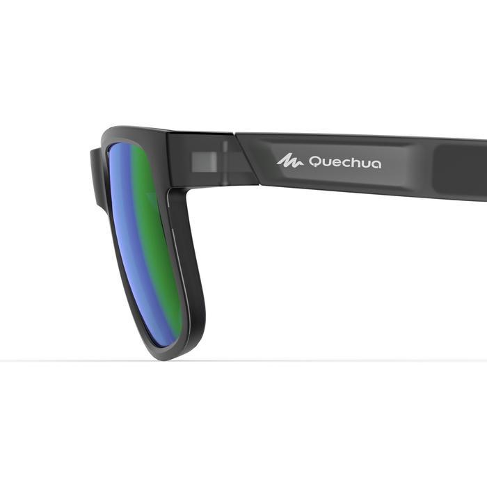 Gafas de sol de senderismo MH140 gris y verde polarizadas categoría 3