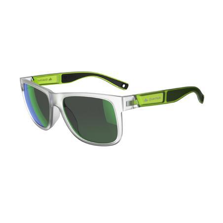 Lunettes de soleil de randonnée adulte MH140 vertes translucides catégorie 3
