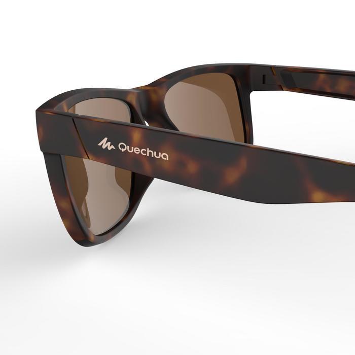 lunettes de soleil de randonnée adulte MH 540 marron et rouges catégorie 3