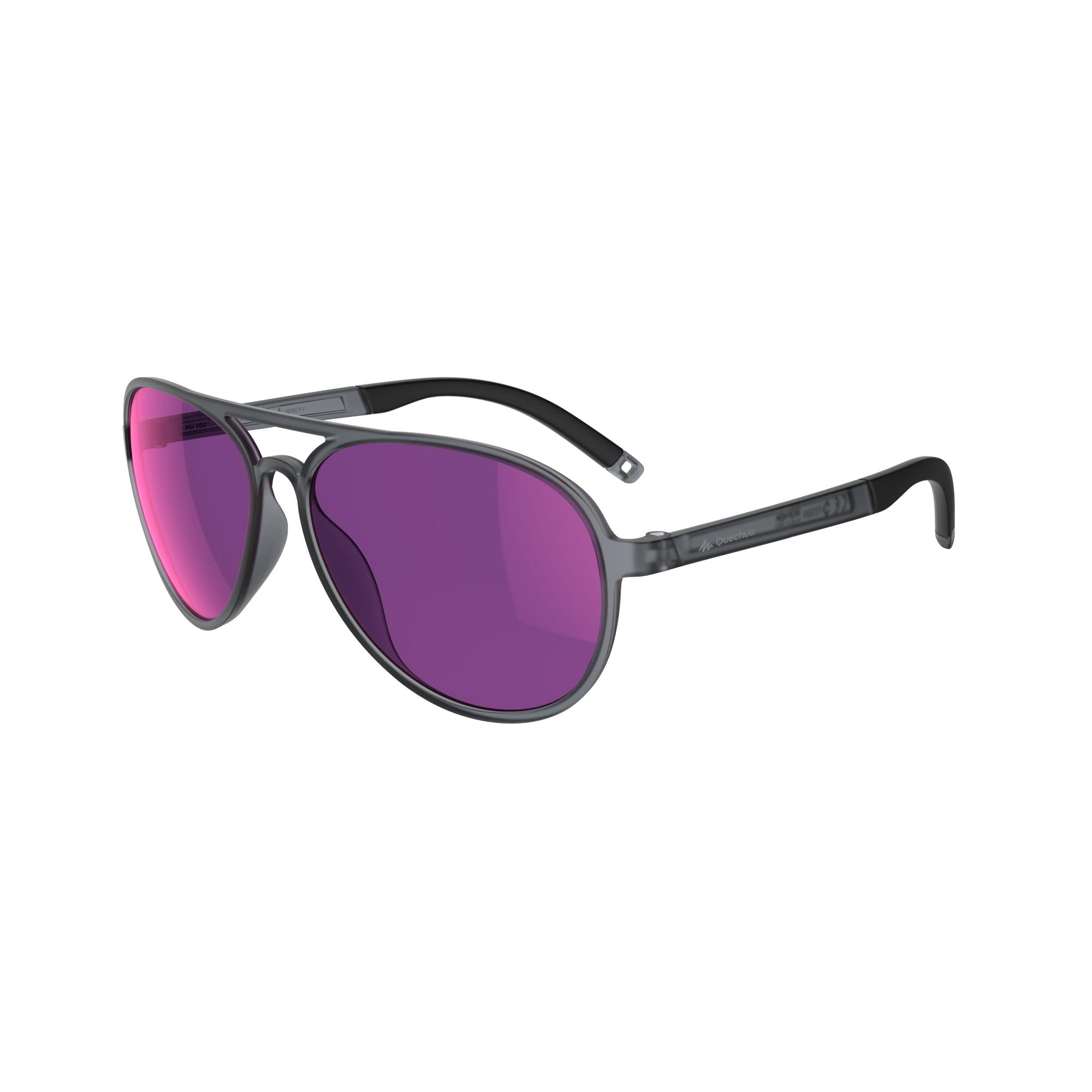 Walking 500 Fitness Walking Sunglasses Category 3 - Black & Pink