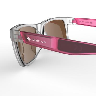 Adult Category 3 hiking sunglasses MH140 - translucent pink