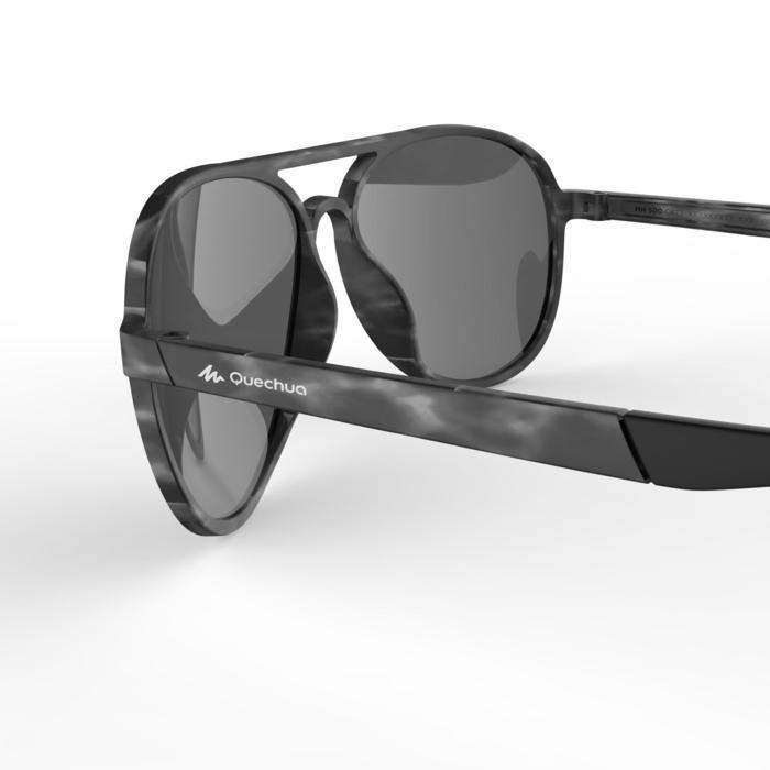 Sonnenbrille Wandern MH120 Kategorie3 Erwachsene grau/petrol