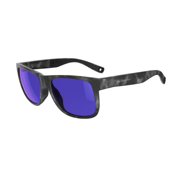 Gafas de sol de senderismo adulto MH140 gris y violeta categoría 3