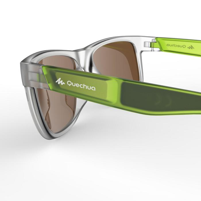 lunettes de soleil de randonnée adulte MH 540 vertes translucides catégorie 3