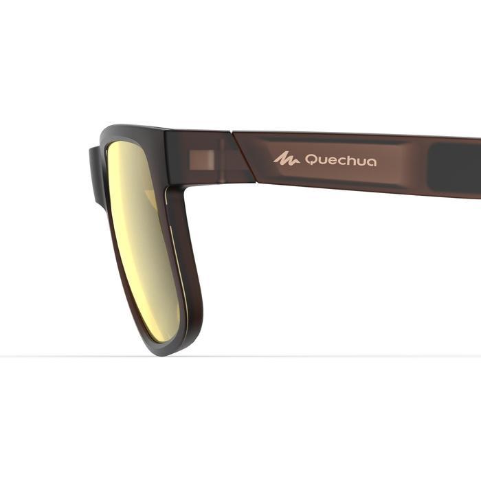 Gafas de sol de senderismo MH140 polarizadas marrón categoría 3