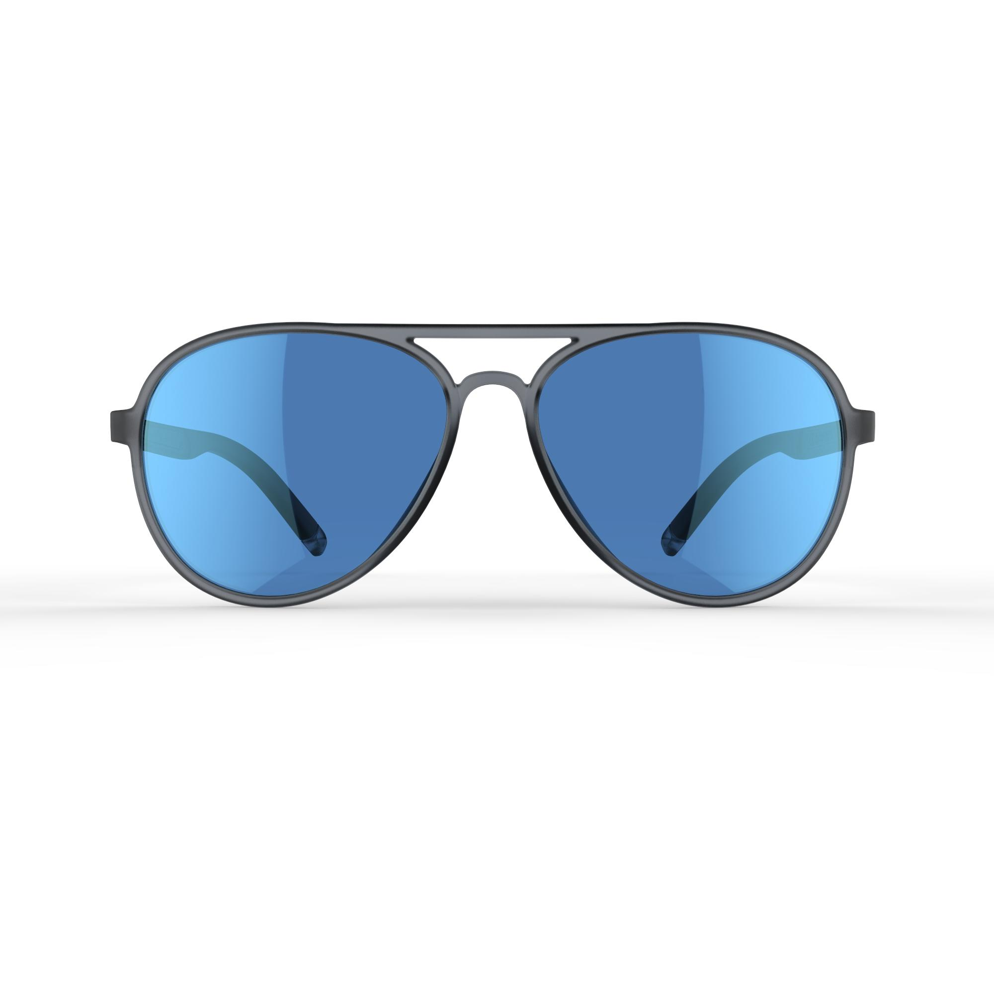 Category 3 MH 500 polarised hiking sunglasses – Black and Blue