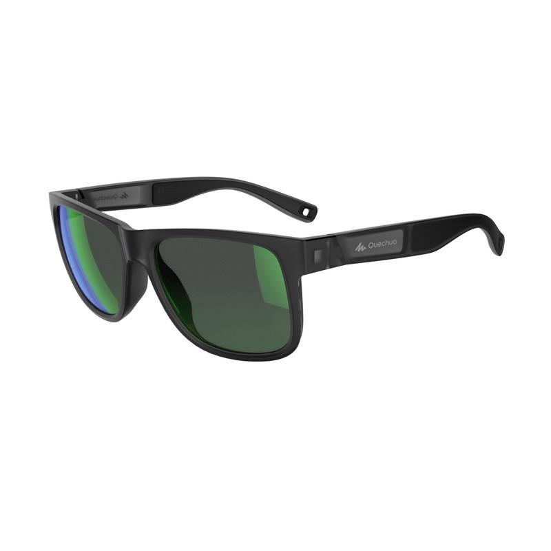 Hiking Sunglasses MH140 Category 3 (Polarized) - Grey & Green