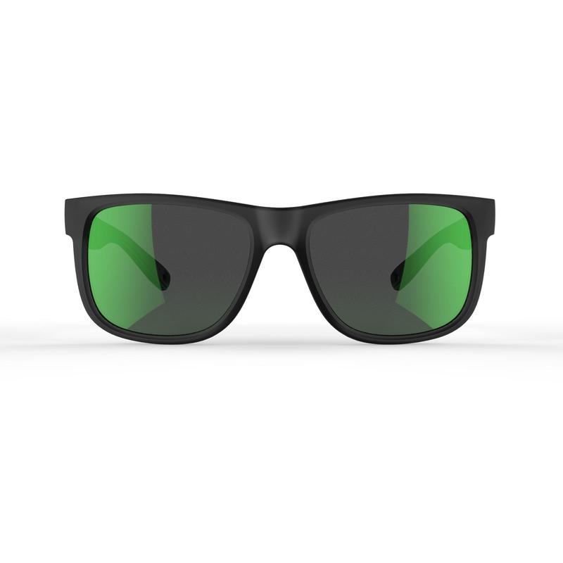 Polarised category 3 hiking sunglasses MH140 - grey and green
