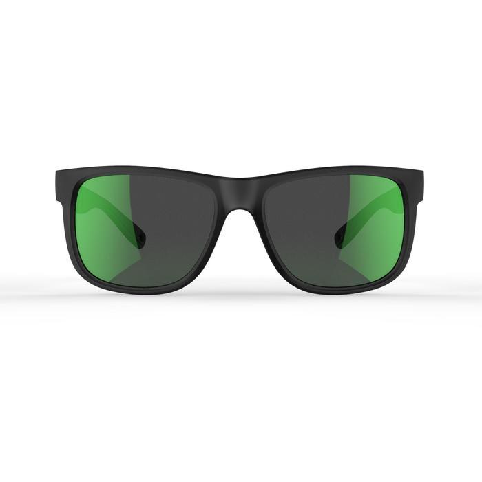 Wandelzonnebril MH140 grijs en groen gepolariseerde glazen categorie 3