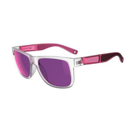 lunettes de soleil de randonnée adulte MH 540 rose translu catégorie 3    Quechua 1475eaf6aebb