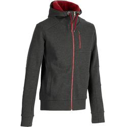 Warme heren hoodie met rits voor gym en pilates