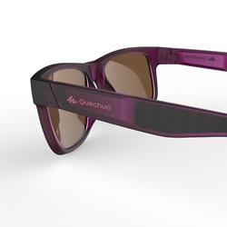 Sonnenbrille Wandern MH140 schmales Gesicht Kategorie3 Erwachsene violett