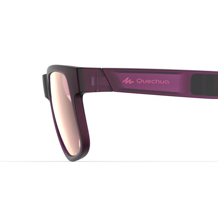 Lunettes de soleil de randonnée MH140 SMALL violettes catégorie 3