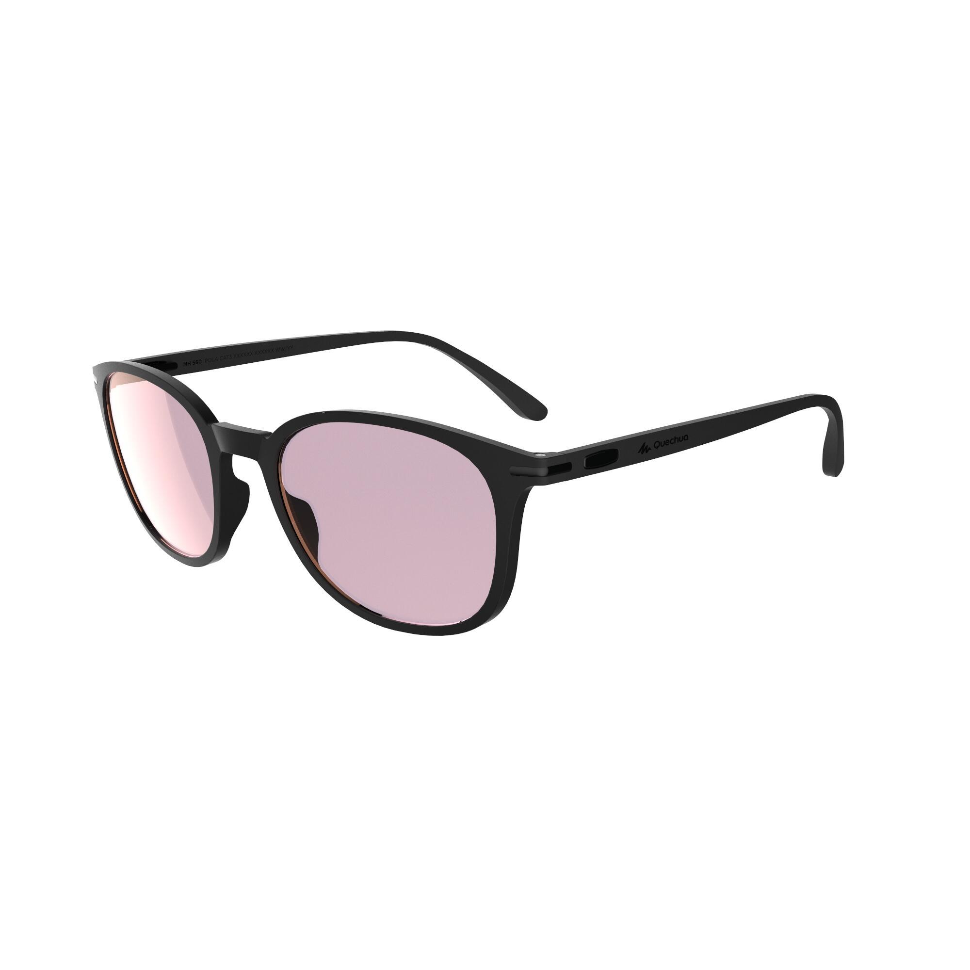 Sonnenbrille Wandern MH160 Polarisierend Erwachsene Kategorie 3 schwarz | Accessoires > Sonnenbrillen > Sonstige Sonnenbrillen | Quechua