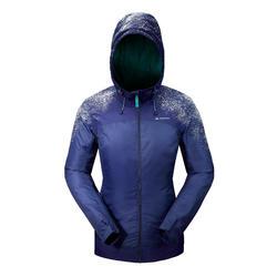 Dames wandeljas voor de sneeuw SH100 X-warm China blue