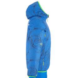 VESTE DE SKI ENFANT WARM REVERSE 100 BLEUE ET VERTE
