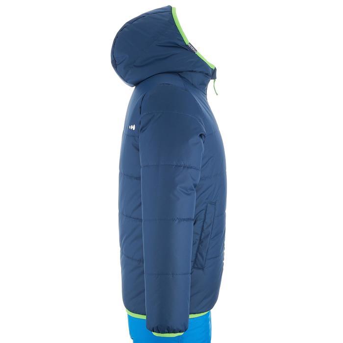 Ski-jas voor kinderen Warm Reverse 100 blauw/groen