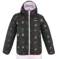 Ski-jas voor kinderen Warm Reverse 100 wit/zwart
