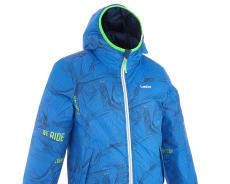 迪卡儂兒童雙面穿防水保暖滑雪外套