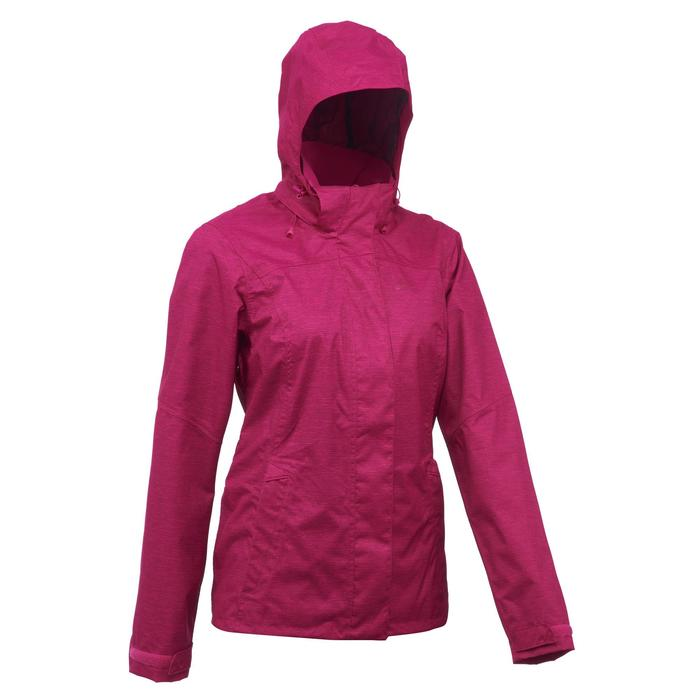 Women's MH100 Waterproof Mountain Hiking Rain Jacket – Heather Pink