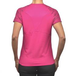 Kaus Mountain Walking Lengan Pendek Wanita MH500 - Pink