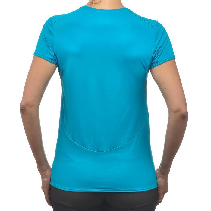 T-Shirt manches courtes de randonnée montagne MH100 Femme Bleu turquoise