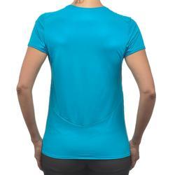 Tee-Shirt manches courtes de randonnée montagne Femme MH100 Turquoise