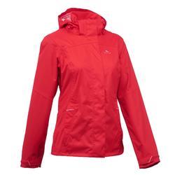 MH100 Women's Mountain Hiking Waterproof Jacket - Mottled Grey