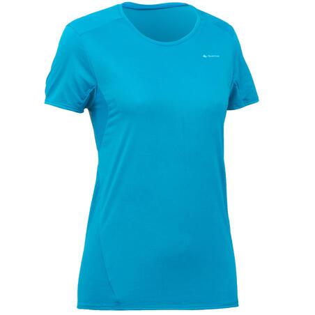 Camiseta Manga Corta de Montaña y Trekking Quechua MH100 Mujer Azul