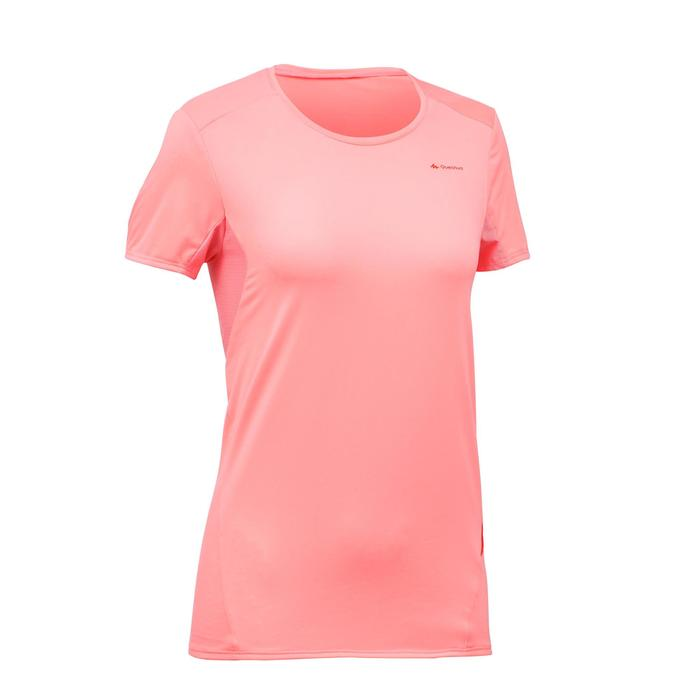 T-Shirt manches courtes de randonnée montagne MH100 femme - 1254211