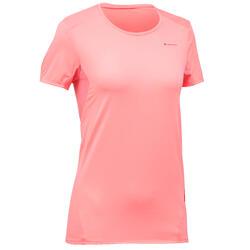 T-shirt manches courtes de randonnée montagne Femme MH100 Rose litchi