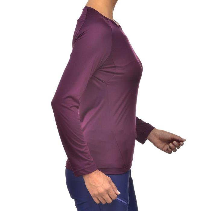 Camiseta de manga larga de senderismo montaña Mujer MH150 Ciruela