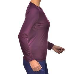 Damesshirt met lange mouwen voor bergwandelen MH150 pruim