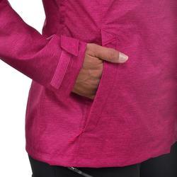 女款登山健行防水外套NH100-粉紅色