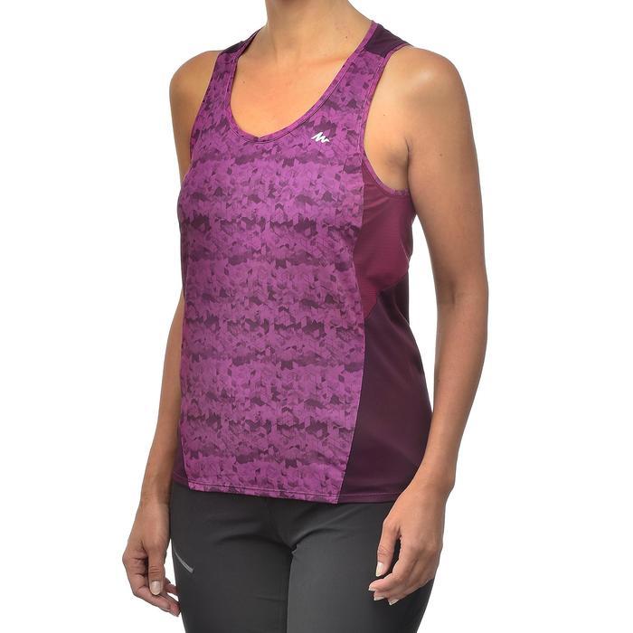 Camiseta Tirantes de Montaña y Trekking Forclaz MH500 Mujer Ciruela