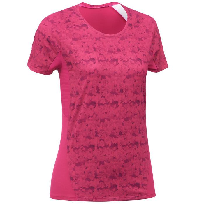 Tee-Shirt manches courtes randonnée Techfresh 100 femme - 1254259