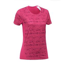 MH500 Women's Short-sleeved Mountain Hiking T-Shirt - Pink