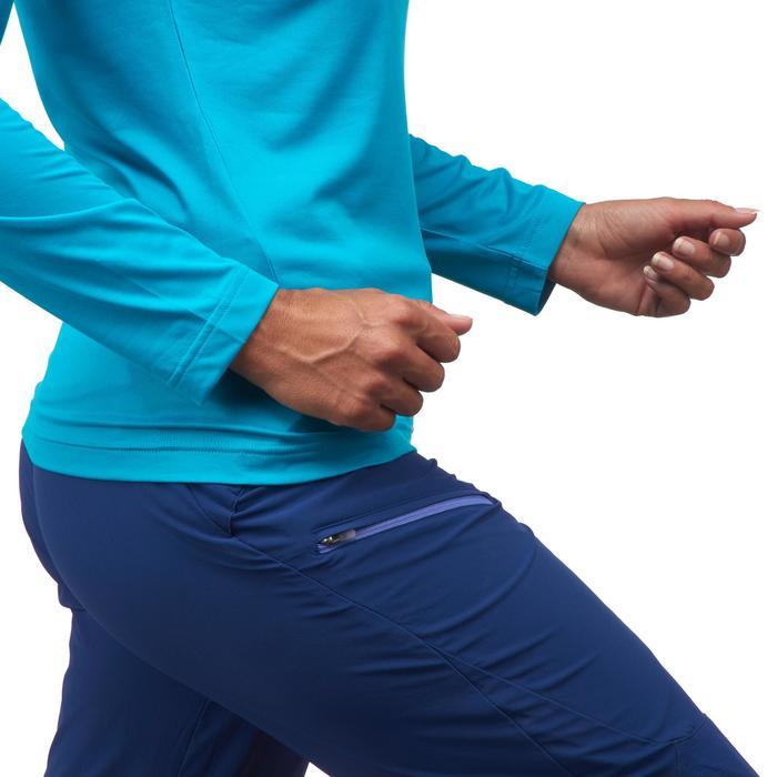 Tee-Shirt manches longues de randonnée montagne Femme MH150 Turquoise