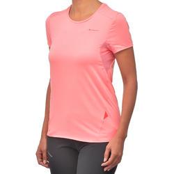 Women's Mountain Hiking Short-Sleeved T-Shirt MH100 - Lychee Pink
