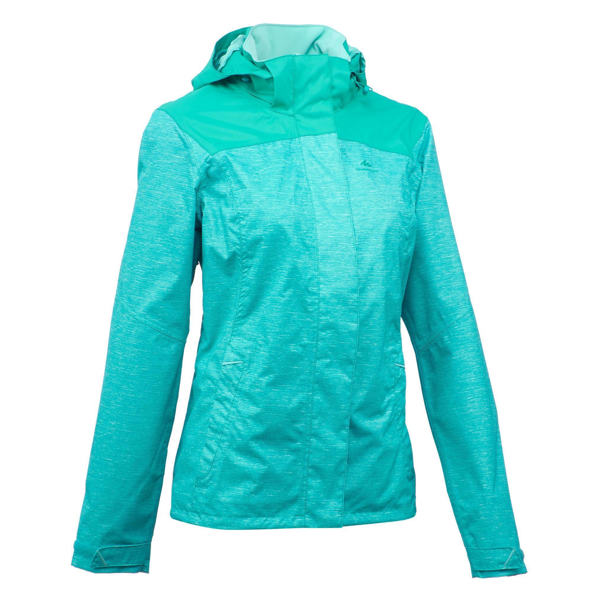 Women S Mh100 Waterproof Mountain Hiking Rain Jacket