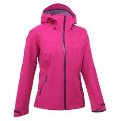 Women's MH500 waterproof mountain hiking rain jacket – Pink